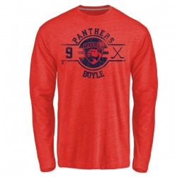 Men's Brian Boyle Florida Panthers Insignia Tri-Blend Long Sleeve T-Shirt - Red