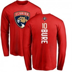 Men's Pavel Bure Florida Panthers Backer Long Sleeve T-Shirt - Red