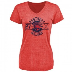 Women's Scott Mellanby Florida Panthers Insignia Tri-Blend T-Shirt - Red