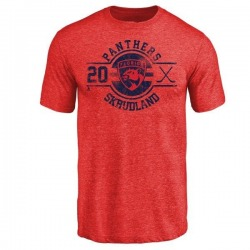 Youth Brian Skrudland Florida Panthers Insignia Tri-Blend T-Shirt - Red